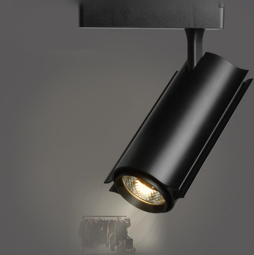factory sale cob led track light 30w rail spot lighting clothing store lights showcase led. Black Bedroom Furniture Sets. Home Design Ideas