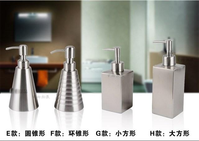 Zeepdispenser Voor Douche : 304 rvs zeepdispenser fles lotion douche shampoo flessen opslag