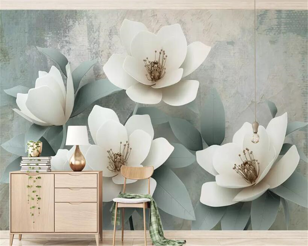 Beibehang Wallpaper For Walls 3 D Vintage Wallpaper Simple 3d