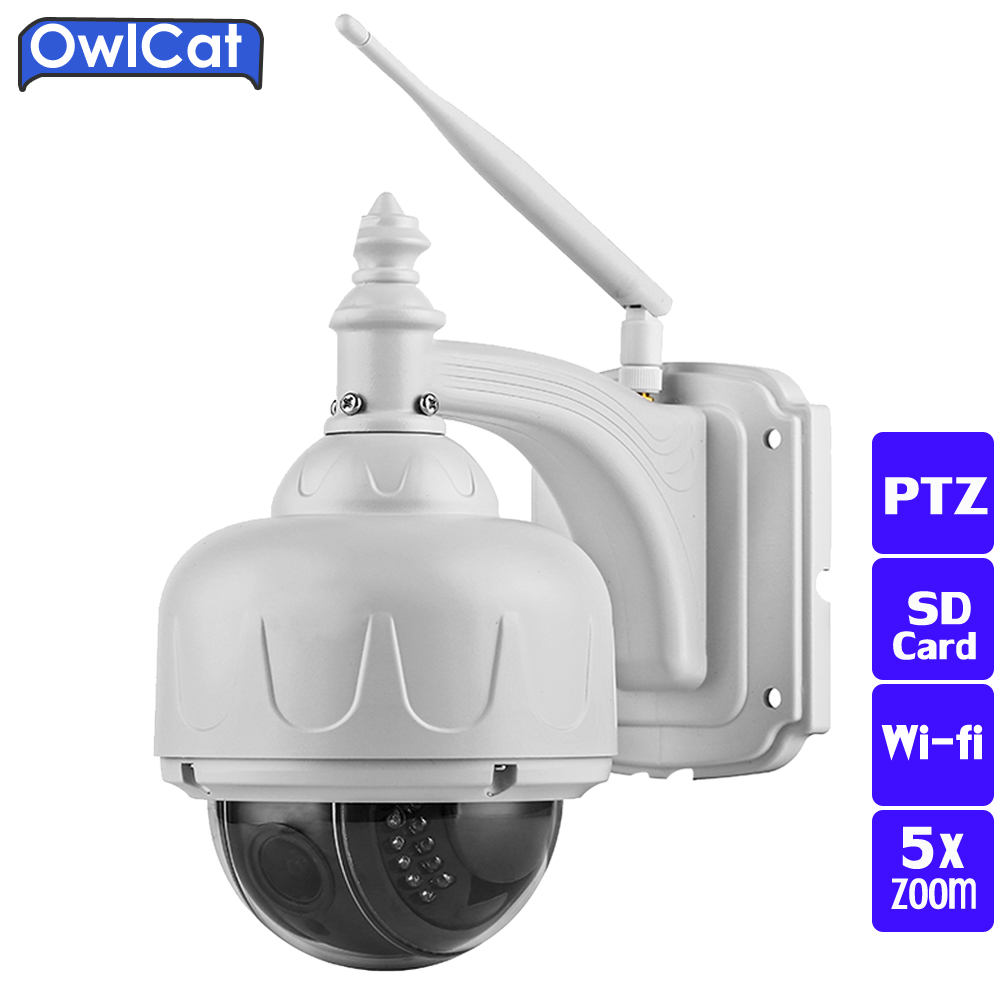 OwlCat FULL HD Outdoor Waterproof IP66 PTZ WIFI IP Camera 960P 1080P 5X Zoom Auto Focus Security CCTV Camera SD Card ONVIF2.0 owlcat wifi ip camera bullet outdoor waterproof onvif wireless network kamara 2mp full hd 1080p 720p security cctv camera