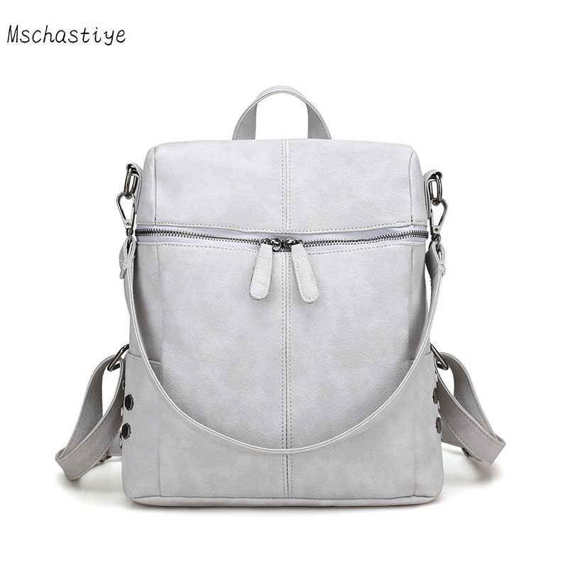 G/&L Women Backpack Purse Pu Leather Fashion Travel Casual Detachable Crossbody Ladies Shoulder Bag Travel Bag