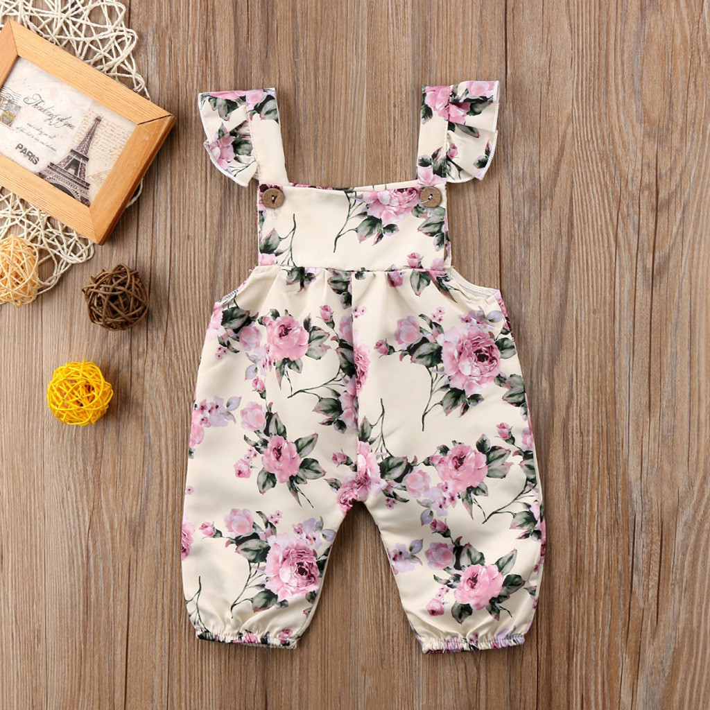 b9ec0e32992c0 Summer jumpsuit baby girl Baby sleeveless jumpsuit carter floral romper  jumpsuit Outfits Clothes ropa bebe verano#py45US