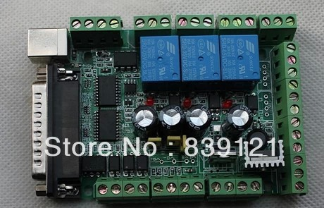 Free ship New type Interface Breakout Board Adapter CNC MACH3 USB 6 Axis for motor driver