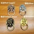 66*41mm Antique Brass/ Red Copper Lion Head Dresser Knobs Modern Baby Pulls Cabinet Hardware Dresser Handles