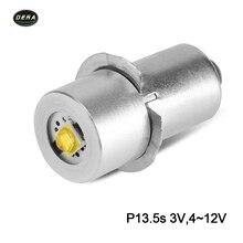 P13.5S E10 3W 3V/4 12V żarówka ledowa latarka zamienna żarówka latarka awaryjne żarówki praca 3 6 komórek dla Maglite