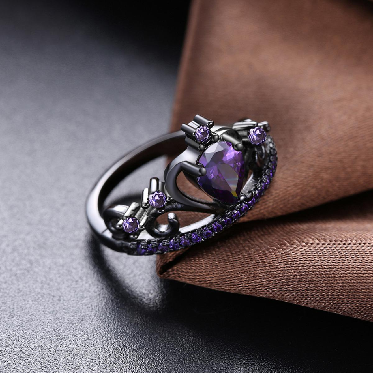Multi Color Queen's Crown Rings