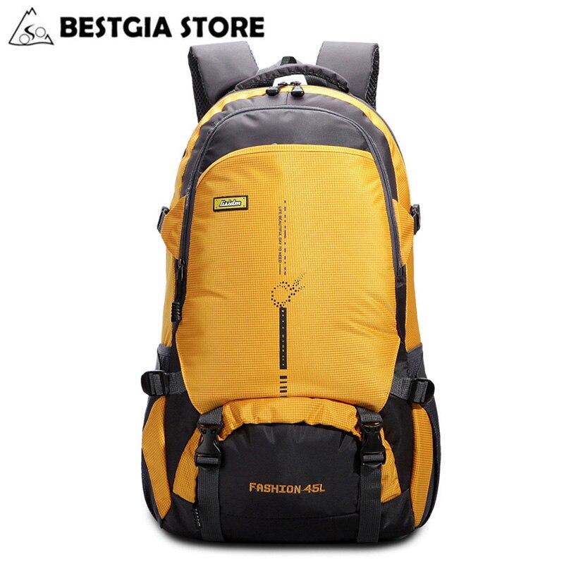 45L Nylon Waterproof Climbing Bags Men Women Bicycle Travel Mountain Hiking Backpacks Ultralight Outdoor Camping Sports Bag