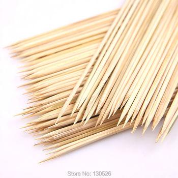 90 sztuk szaszłyki bambusowe 15 ~ 40 cm 3mm naturalne bambusowe szpikulce do grilla kije Kabob owoce warzywa grilla ziemniak tornado szpikulec tanie i dobre opinie Narzędzia Nie powlekany 12 Odporność na ciepło flowerherd Bamboo Roasting Needle