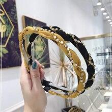 Fashion Flesh Style Hairband Women New Arrival Summer Autumn Headband Shining Rhinestone Chain Inlay Hair Accessories