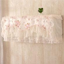 Кружевной чехол для кондиционера, романтическое свадебное украшение, Настенный Кондиционер, цветочный чехол для дома, пылезащитный чехол