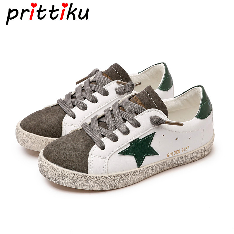 Spring 2018 Baby Toddler Boys Girls Distressed Earthy Sneakers Little Kid Real Leather Trainers Big Children Brand School Shoes цена