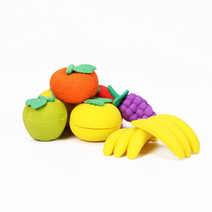 1 Lot nouveauté gros fruits Cuisine forme gomme caoutchouc gomme primaire école étudiant prix promotionnel cadeau papeterie 3