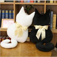 WYZHY Back cat cat pillow black cat doll plush toy to send girls children gifts bedside decoration 70CM