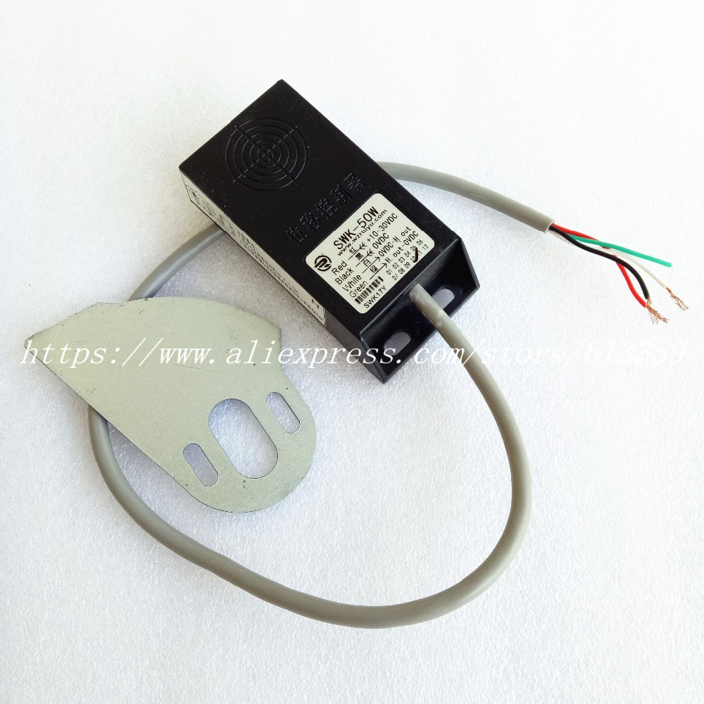 SWK-50W Sensore di Spostamento Spostamento Ad alta precisione Regolatore di Interruttore 4 FiliSWK-50W Sensore di Spostamento Spostamento Ad alta precisione Regolatore di Interruttore 4 Fili