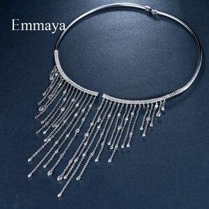 Image 5 - Ожерелье чокер Emmaya, ювелирные изделия, популярное циркониевое романтическое ожерелье, романтическое ожерелье с кристаллом для женщин, вечерние