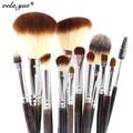 Pincel de Maquillaje profesional Set 12 unids Kit de Herramientas de Maquillaje de Alta Calidad Violeta