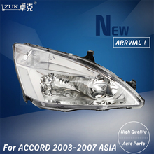 ZUK Left Right Front Headlight Headlamp Head Light Lamp For HONDA ACCORD  CM4 CM5 CM6