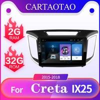 2 din Android 8.1 car DVD multimedia player for Hyundai Creta ix25 2015 2016 2017 2018 Car radio GPS navigation Bluetooth player