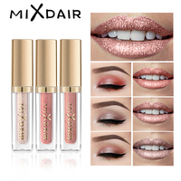 MIXDAIR 6 Colore Matte Lip Gloss Shimmer Glitter Evidenziare Set Liquido Rossetto Ombretto Viso trucco Highlighter Diamante Pigmento-in Lucidalabbra da Bellezza e salute su
