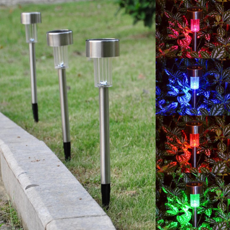 5 Pcs/Lot Solar Light Garden Decoration Led Solar Garden Yard Path Lamps Meadow luminari ...
