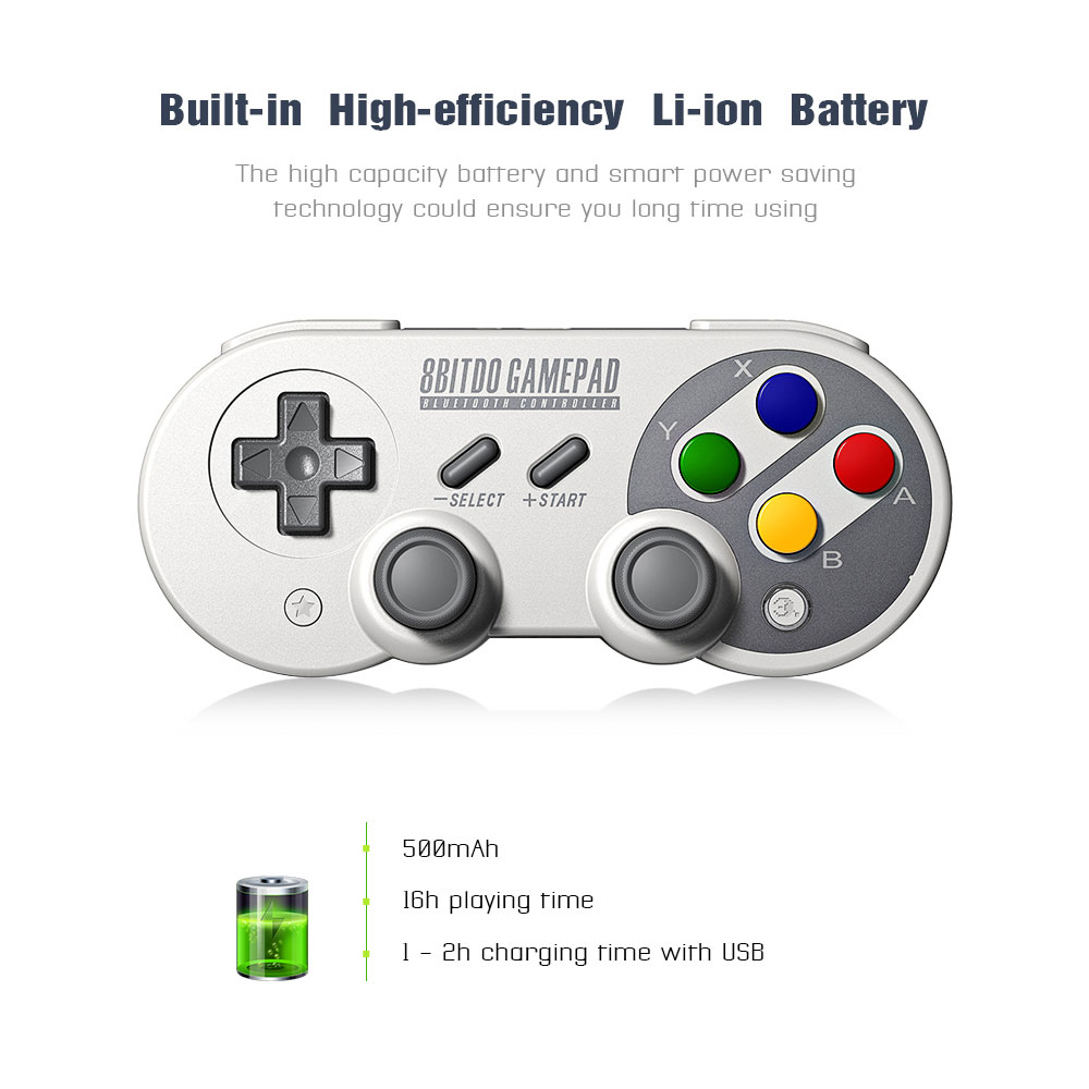 8Bitdo SF30 Pro Gamepad Game Controller for Nintendo Switch Windows mac Android Rumble Vibration Motion Controls USB-C Joystick