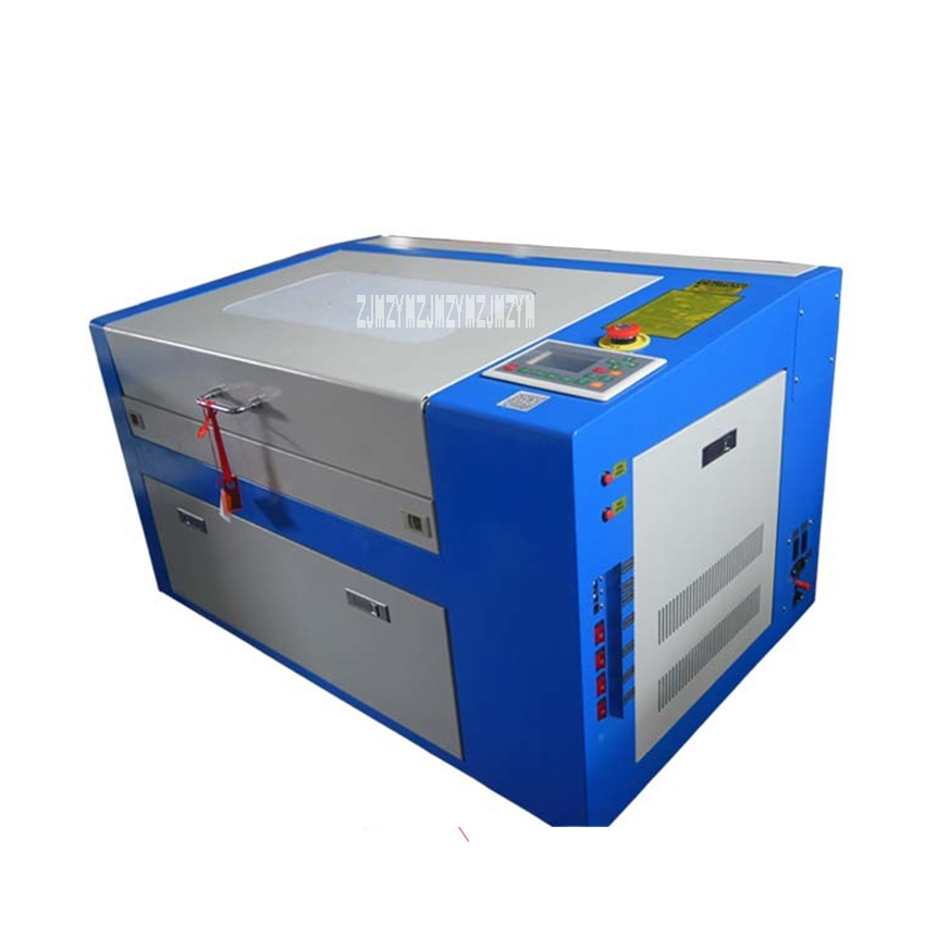 KH3050 Laser Engraving Machine CO2 Laser Cutter Plastic Board Leather Paper Crafts Engraving Machine 110V/220V 50W (500x300mm)