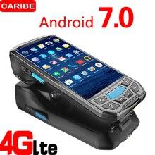 Caribe PL 50L Máy Tính Di Động Android PDA Wifi 2D Bluetooth Máy Quét Mã Vạch Và GPS Máy In UHF RFID NFC POS Máy In