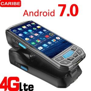 Image 1 - Caribe PL 50L الكمبيوتر المحمول الروبوت PDA Wifi 2D ماسح الرمز الشريطي بتقنية Bluetooth و GPS طابعة UHF RFID NFC طابعة POS