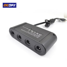 OCDAY MAYFLASH 4 Ports GameCube Controller Adapter for Switch Wii U & PC USB