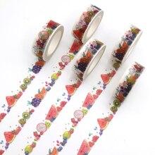 Paper-Tape Office-Supplies Diy Scrapbooking Fruit-Pattern School Decorative-Sticker Adhesive