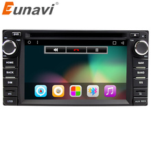 Eunavi 2din Android 7.1 4 Core 2G RAM car dvd player for Toyota Hilux VIOS Old Camry Prado RAV4 Prado 2003-2008 car stereo radio