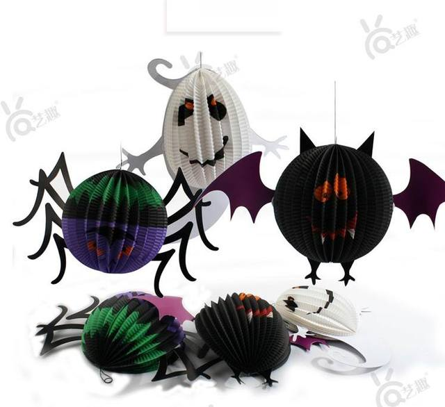 3 Pcs Halloween Paper Decoration For Party Game Ornaments Children