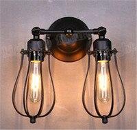 Vindima RH Tipo cabeça de Casal De Parede flexível Lampiron luminárias de parede de cabeceira lâmpadas de Edison E27 lâmpada retro A131