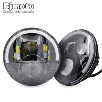 Pair H4 H13 Harness 7 60W LED High Low Beam Headlights Projector Daymaker 6500k Headlamp For
