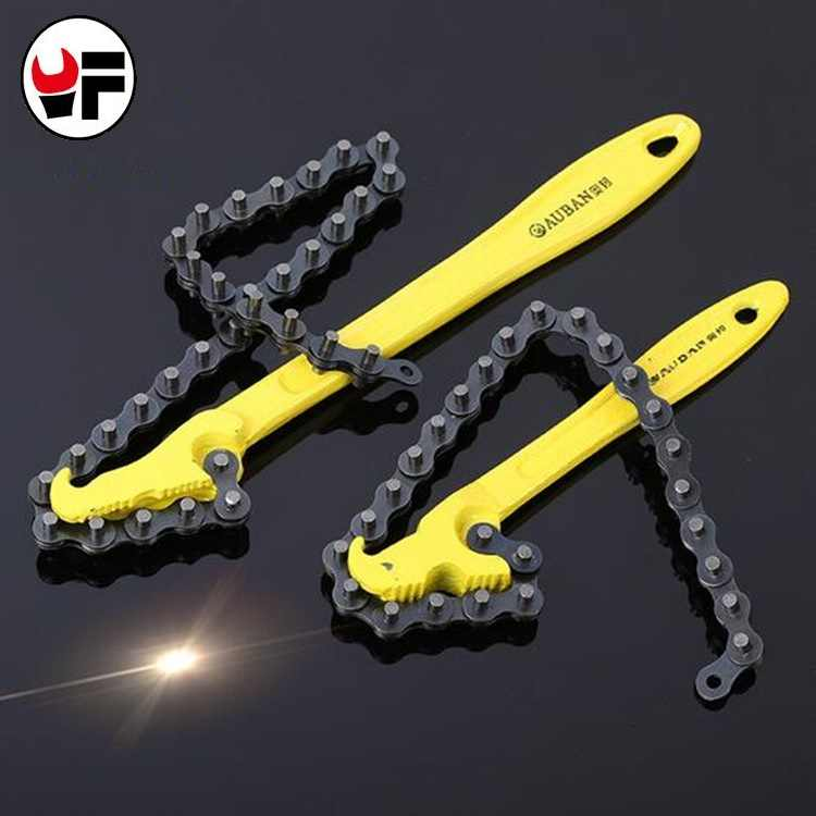 YOFE 8 inch chain wrench filter oil wrench tool chain spanner hand tool for car repair tools plastic spray oil filter wrench