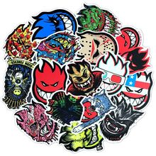 15 sheets Ghost Fire Skateboard Stickers Pack, Cool Bike Laptop Luggage Snowboard Car Decals, Waterproof Vinyl Sharp Colors small fire cloud figure car stickers multi color 10 pair pack