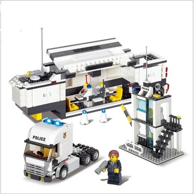 Mini police station 511pcs building blocks set police - Lego city camion police ...