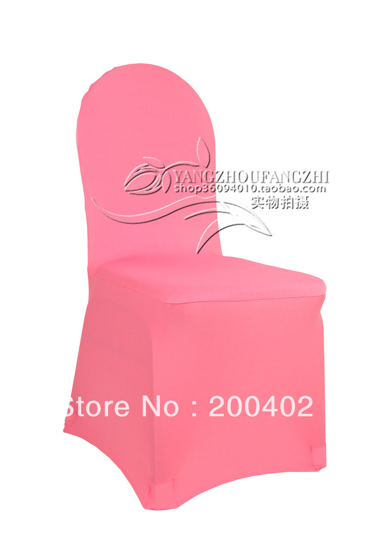 Free Shipping Coral Spandex Chair Cover For Weddings In