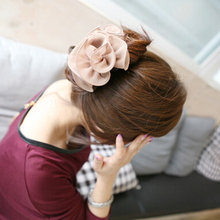 Hot Hot Sweet Women's  Rose Flower Beauty Bow  Chiffon  Jaw Clip Barrette Hair Claw Hairwear   GD183 5BVT 7EPC