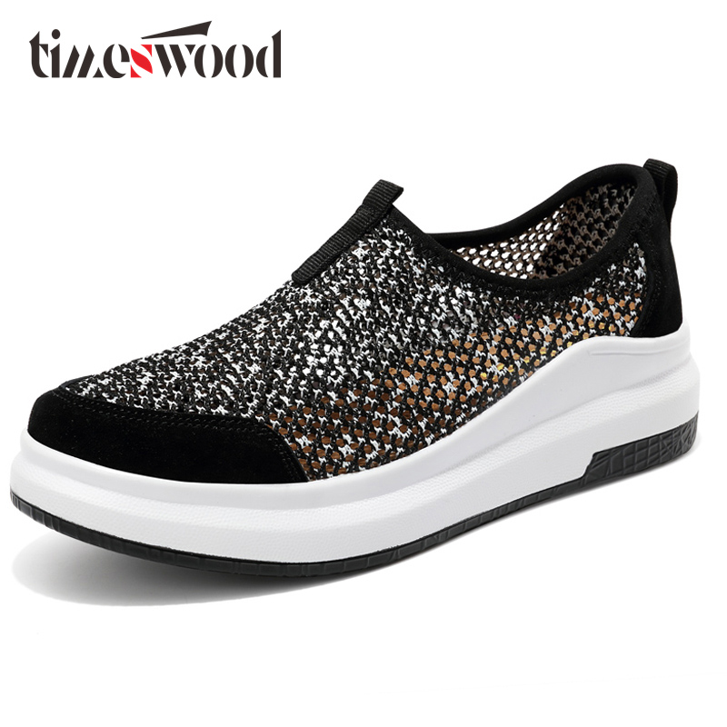 Easy Lazy Flats Shoes Slip-On Casual Loafers Shoe New Soft Footwear For Women's Spring Summer Autumn Breathable Mesh Mocassim chilenxas 2017 new spring autumn soft leather breathable comfortable shoes flats men casual fashion solid slip on handmade