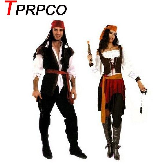 TPRPCO Halloween Men Women Pirate Costume Cosplay NL1491