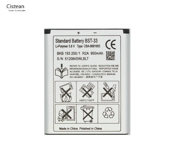 Phone K800 K810i BST-33 Replacement-Battery V800 for K530 K790/K790i/K790c/.. 500pcs/Lot