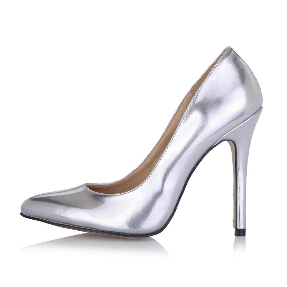 Sexy Party Toe Nhọn Stiletto Phụ Nữ Bơm Zapatos Mujer Bombas de Tacon Alto de Aguja Scarpe da Donna Sposa Moda YJ119-b5