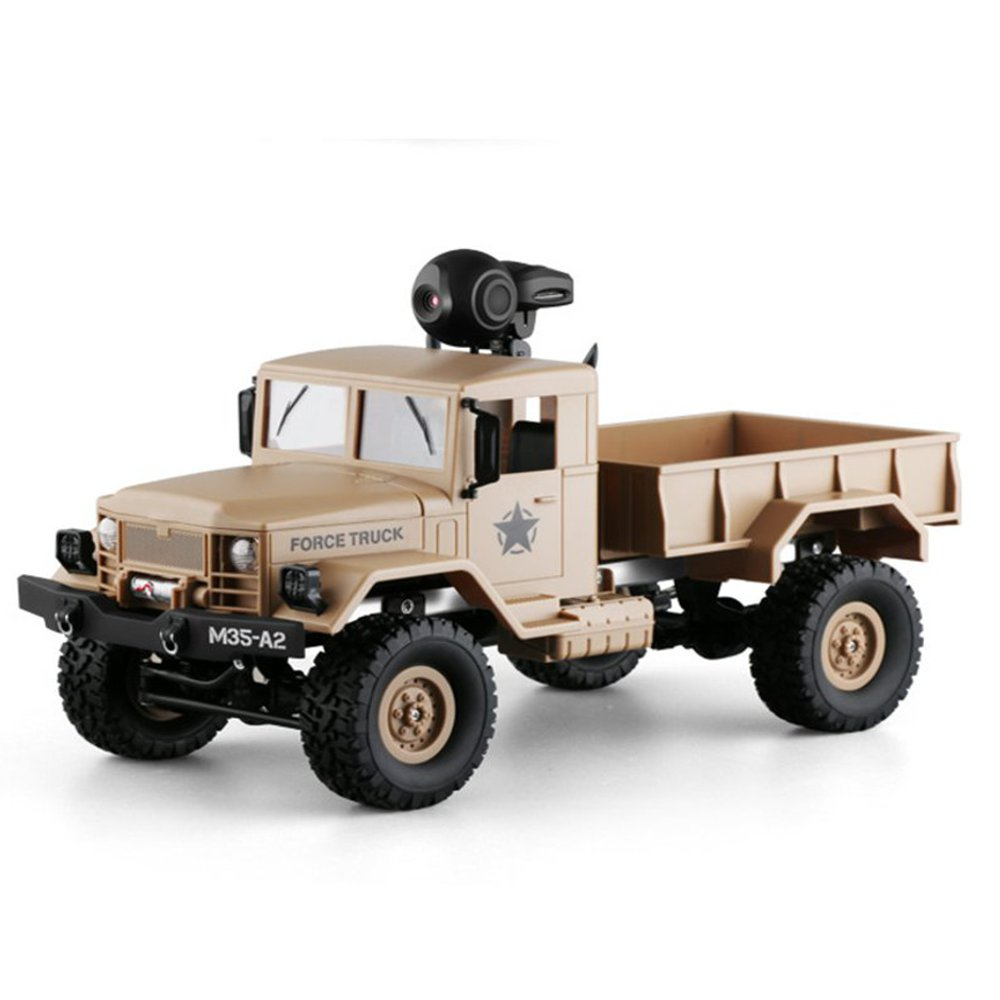 Hot New Fayee FY001 1/16 2.4G 4WD RC Car 720P 0.3MP WIFI FPV Brushed Off-road Military Truck W/ LED Light цена