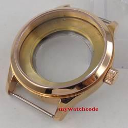 42 мм 316L стали сапфировое стекло Роуз позолоченный корпус часов fit ETA 2824 2836 Движение