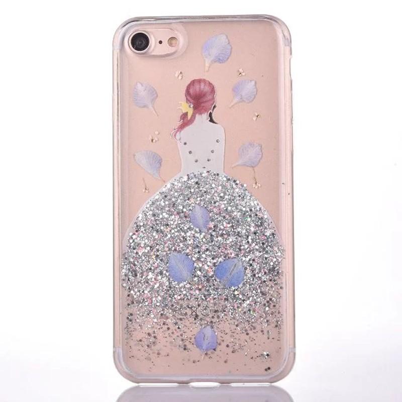 HTB1oBj4OVXXXXXSXFXXq6xXFXXXn - Soft TPU Glitter Princess Dress Girl Petal Patterned Back Cover Cell Phone Case for iPhone 7 PTC 185