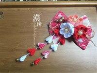 2017 Japonais Ornements Faits À La Main En Épingle À Cheveux Fleur En Épingle À Cheveux Cheveux Clip Partie Accessoire De Mariage O