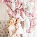 9 шт., детский праздничный шар, 18 дюймов, розовый, белый, серебристый цвет