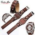 Fossil armband JR1156 JR1157 Hohe qualität armband 24mm männer armband rindsleder armband-in Uhrenbänder aus Uhren bei