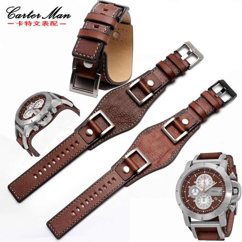 ba6043bc35c81 Fossil watchband JR1156 JR1157 High quality watchband 24mm men watch strap  cowhide bracelet